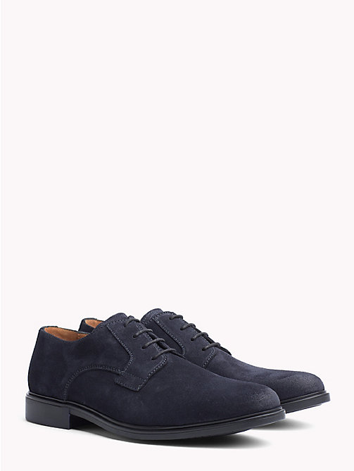 TOMMY HILFIGER Classic Suede Shoes - MIDNIGHT - TOMMY HILFIGER Lace-up Shoes - main image
