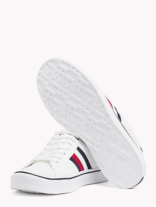 TOMMY HILFIGER Lightweight Lace-Up Trainers - WHITE -  NEW IN - detail image 1