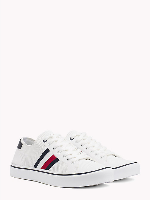 TOMMY HILFIGER Leichter Lace-up Sneaker - WHITE - TOMMY HILFIGER NEW IN - main image