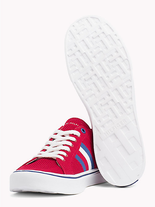 TOMMY HILFIGER Lightweight Lace-Up Trainers - TANGO RED - TOMMY HILFIGER Summer shoes - detail image 1