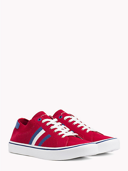 TOMMY HILFIGER Lightweight Lace-Up Trainers - TANGO RED - TOMMY HILFIGER Summer shoes - main image