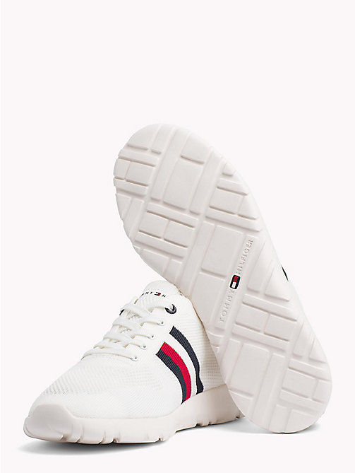 TOMMY HILFIGER Lightweight Knitted Runners - WHITE - TOMMY HILFIGER Summer shoes - detail image 1
