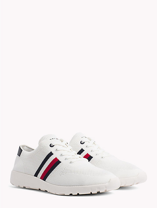 TOMMY HILFIGER Lightweight Knitted Runners - WHITE - TOMMY HILFIGER Summer shoes - main image