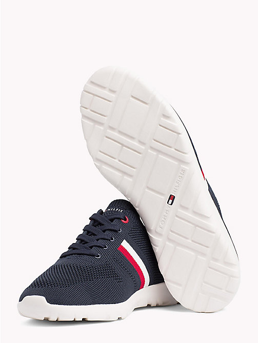 TOMMY HILFIGER Lightweight Knitted Runners - MIDNIGHT - TOMMY HILFIGER Summer shoes - detail image 1