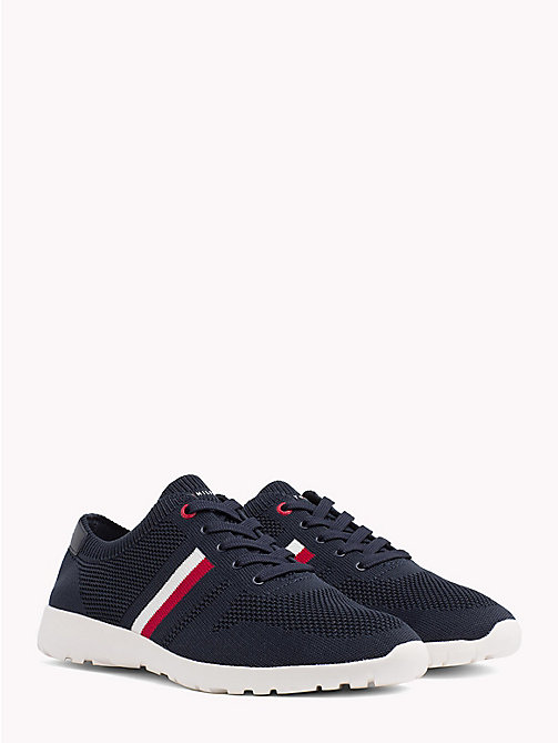 TOMMY HILFIGER Lightweight Knitted Runners - MIDNIGHT - TOMMY HILFIGER Summer shoes - main image