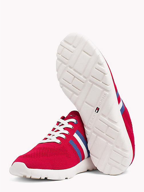 TOMMY HILFIGER Lightweight Knitted Runners - TANGO RED - TOMMY HILFIGER Summer shoes - detail image 1