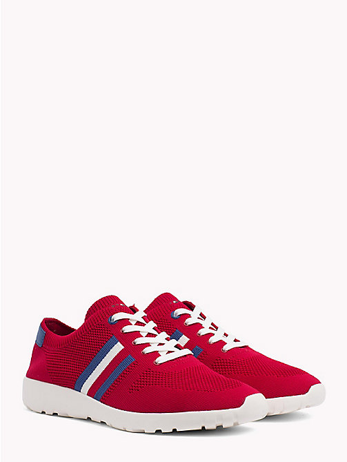 TOMMY HILFIGER Lightweight Knitted Runners - TANGO RED - TOMMY HILFIGER Summer shoes - main image