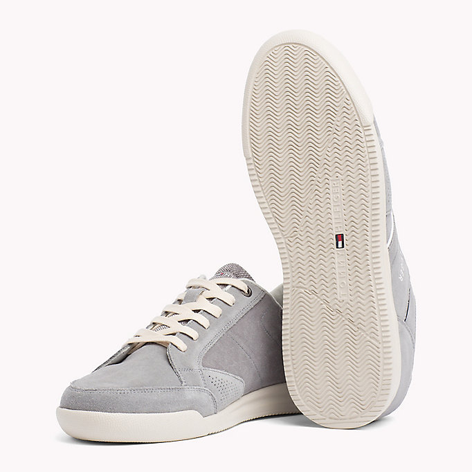 TOMMY HILFIGER Panelled Suede Trainers - MIDNIGHT - TOMMY HILFIGER Men - detail image 1