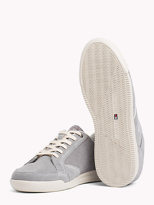 TOMMY HILFIGER Panelled Suede Trainers - LIGHT GREY - TOMMY HILFIGER Best Sellers - detail image 1
