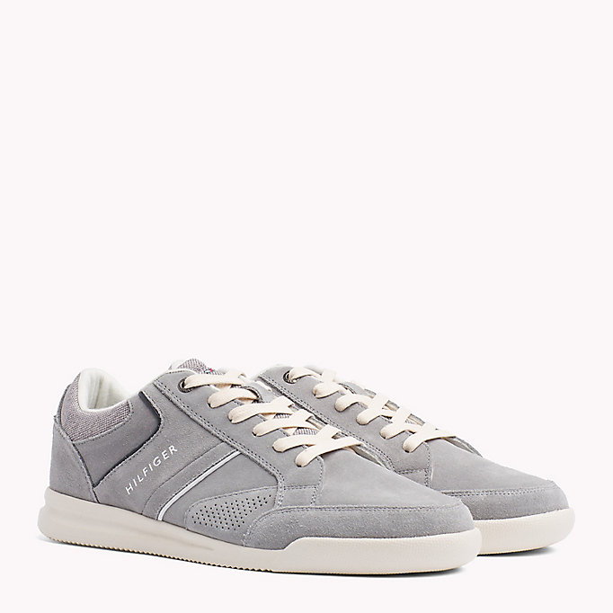 TOMMY HILFIGER Panelled Suede Trainers - MIDNIGHT - TOMMY HILFIGER Men - main image