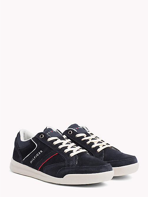 TOMMY HILFIGER Wildleder-Sneaker mit Kontrastbahnen - MIDNIGHT - TOMMY HILFIGER NEW IN - main image