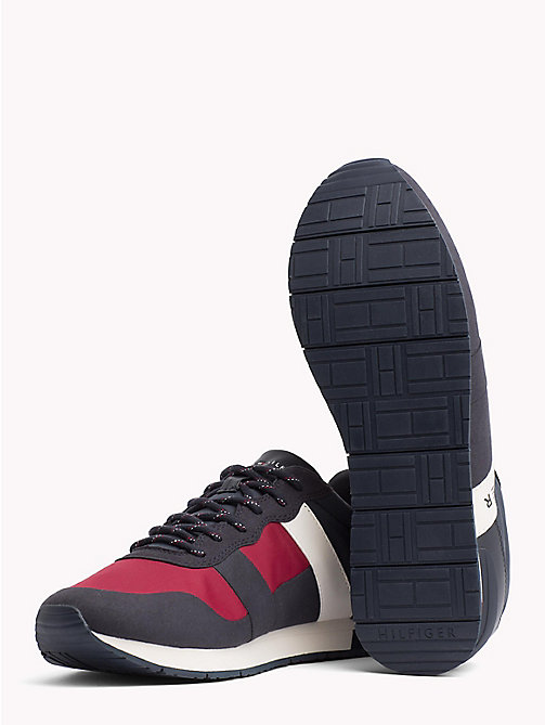 TOMMY HILFIGER Textile Mix Lace-Up Trainers - RWB - TOMMY HILFIGER Best Sellers - detail image 1
