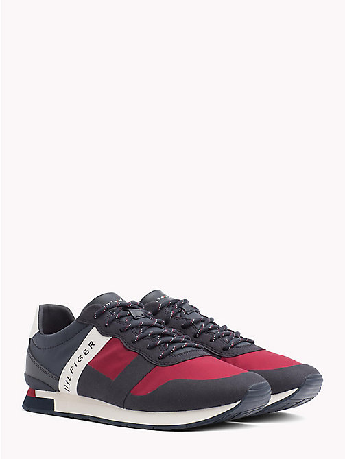 TOMMY HILFIGER Textile Mix Lace-Up Trainers - RWB - TOMMY HILFIGER Best Sellers - main image