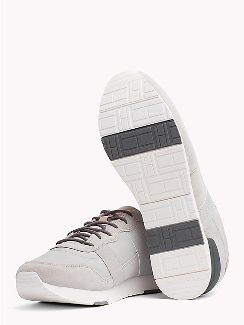 TOMMY HILFIGER Casual Suede Trainers - DIAMOND GREY - TOMMY HILFIGER Shoes - detail image 1