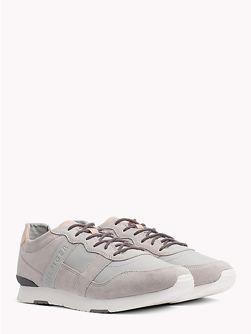 TOMMY HILFIGER Casual Suede Trainers - DIAMOND GREY - TOMMY HILFIGER Shoes - main image