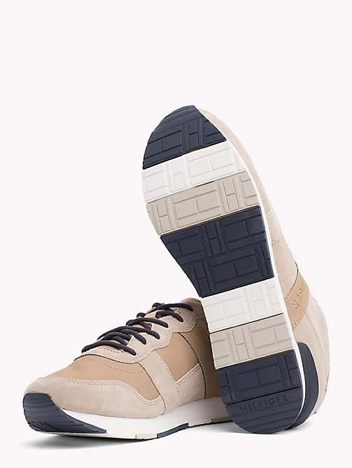 TOMMY HILFIGER Casual Suede Trainers - TAUPE - TOMMY HILFIGER Shoes - detail image 1