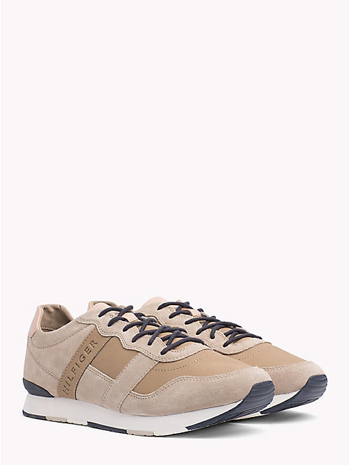 TOMMY HILFIGER Casual Suede Trainers - TAUPE - TOMMY HILFIGER NEW IN - main image