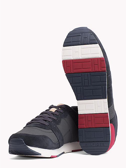TOMMY HILFIGER Casual Suede Trainers - MIDNIGHT - TOMMY HILFIGER Shoes - detail image 1
