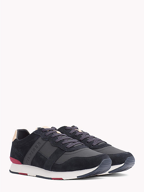 TOMMY HILFIGER Casual Suede Trainers - MIDNIGHT - TOMMY HILFIGER Best Sellers - main image