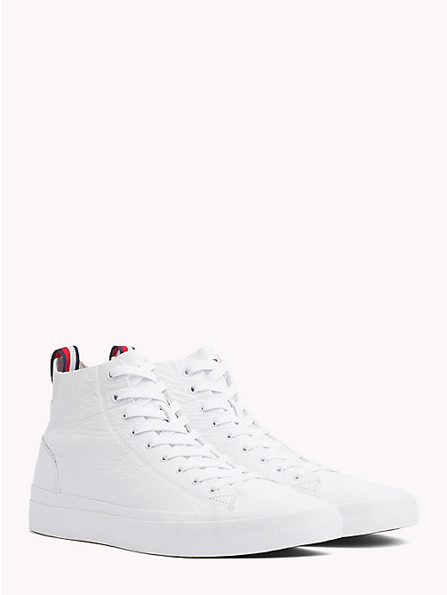 TOMMY HILFIGER Unlined Mid-Top Trainers - WHITE - TOMMY HILFIGER Best Sellers - main image