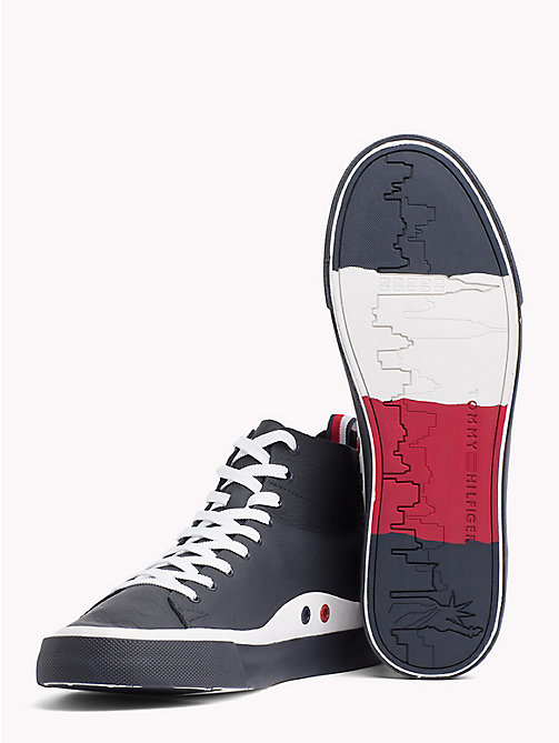 TOMMY HILFIGER Unlined Mid-Top Trainers - MIDNIGHT - TOMMY HILFIGER Best Sellers - detail image 1