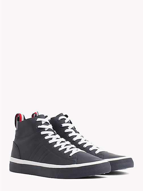 TOMMY HILFIGER Unlined Mid-Top Trainers - MIDNIGHT - TOMMY HILFIGER NEW IN - main image