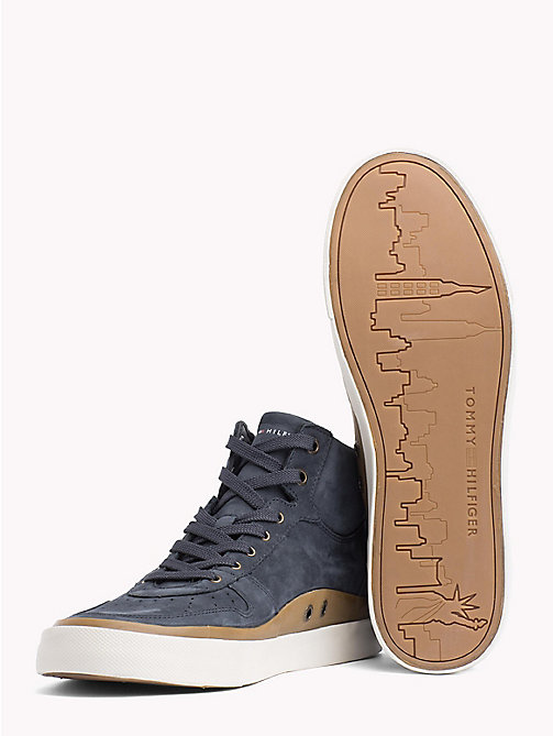 TOMMY HILFIGER Mid Top Suede Trainers - MIDNIGHT - TOMMY HILFIGER Shoes - detail image 1