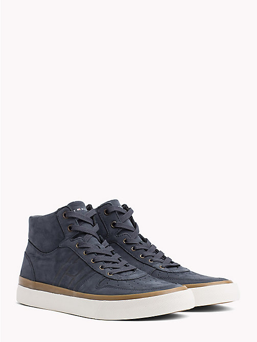 TOMMY HILFIGER Mid Top Suede Trainers - MIDNIGHT - TOMMY HILFIGER Shoes - main image