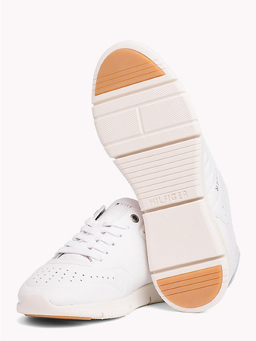 TOMMY HILFIGER Unlined Leather Running Trainers - WHITE - TOMMY HILFIGER NEW IN - detail image 1