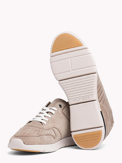 TOMMY HILFIGER Unlined Suede Running Trainers - TAUPE - TOMMY HILFIGER NEW IN - detail image 1