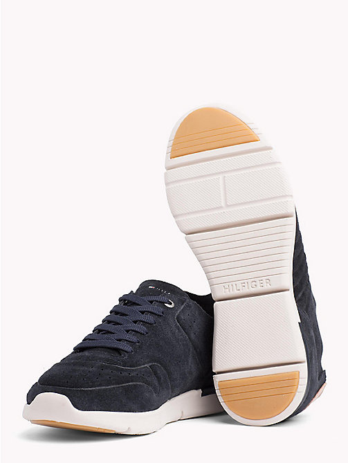 TOMMY HILFIGER Unlined Suede Running Trainers - MIDNIGHT - TOMMY HILFIGER Best Sellers - detail image 1