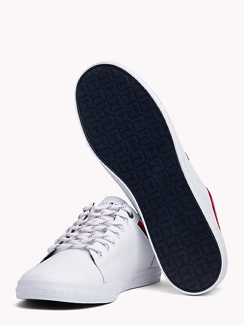 TOMMY HILFIGER Stripe Low Top Trainers - WHITE - TOMMY HILFIGER Shoes - detail image 1
