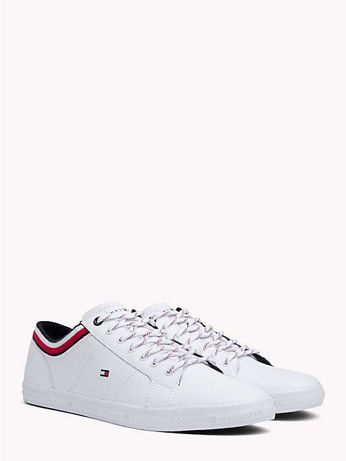 TOMMY HILFIGER Gestreifter Low-Top-Sneaker - WHITE - TOMMY HILFIGER Sneakers - main image