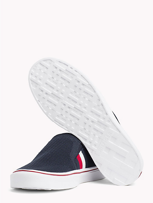 TOMMY HILFIGER Textured Upper Slip On Trainers - MIDNIGHT -  NEW IN - detail image 1