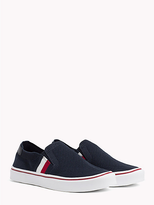 TOMMY HILFIGER Textured Upper Slip On Trainers - MIDNIGHT - TOMMY HILFIGER Summer shoes - main image