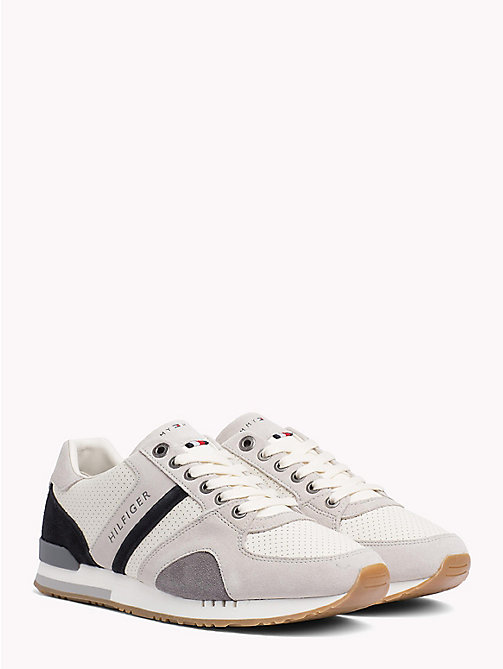 TOMMY HILFIGER Sneaker aus perforiertem Wildleder - ICE - TOMMY HILFIGER NEW IN - main image