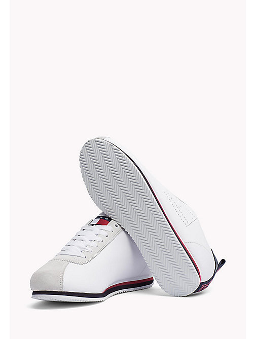 TOMMY JEANS Tommy Jeans Leather Sneakers - WHITE - TOMMY JEANS MEN - detail image 1
