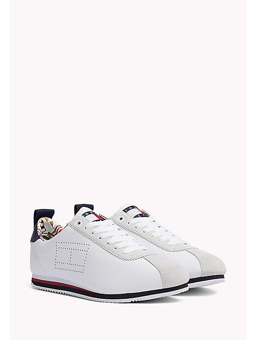TOMMY JEANS Tommy Jeans Leather Sneakers - WHITE - TOMMY JEANS MEN - main image