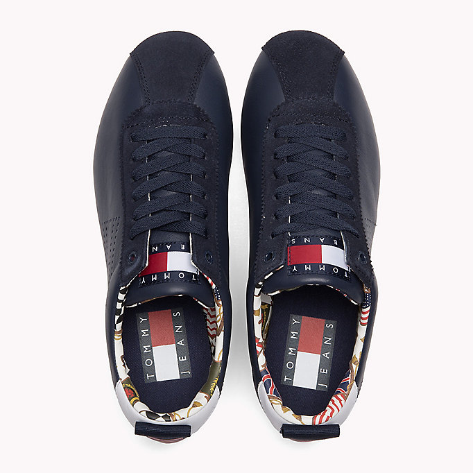 TOMMY JEANS Tommy Jeans Leather Sneakers - WHITE - TOMMY JEANS Men - detail image 3