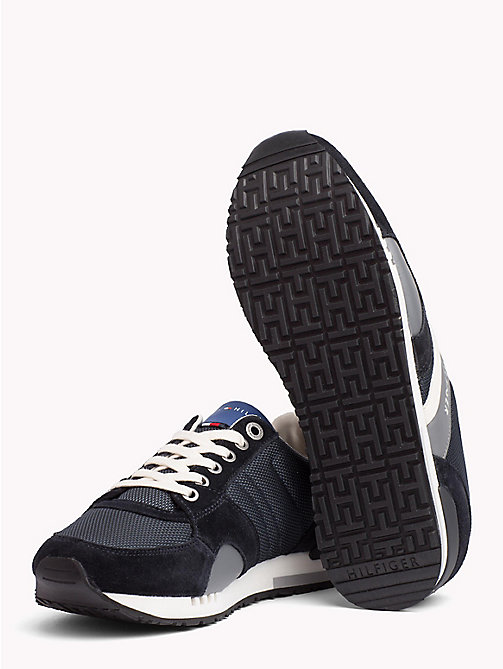 TOMMY HILFIGER Colour-Blocked Material Mix Trainers - MIDNIGHT - TOMMY HILFIGER Best Sellers - detail image 1