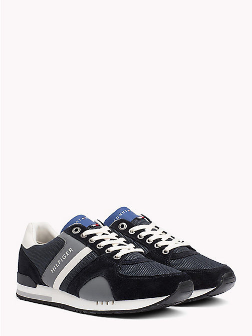 TOMMY HILFIGER Colour-Blocked Material Mix Trainers - MIDNIGHT - TOMMY HILFIGER NEW IN - main image