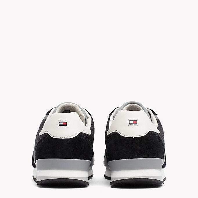 TOMMY HILFIGER Colour-Blocked Material Mix Trainers - MIDNIGHT - TOMMY HILFIGER Men - detail image 2