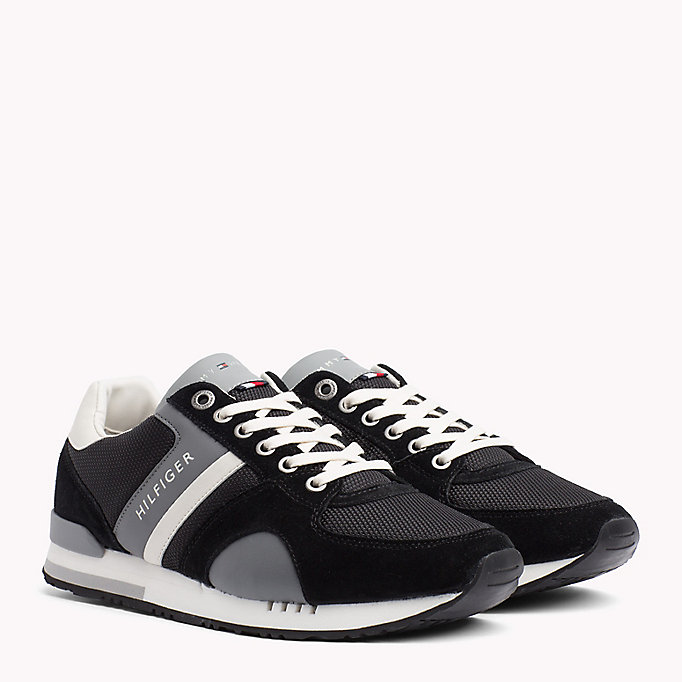 TOMMY HILFIGER Colour-Blocked Material Mix Trainers - MIDNIGHT - TOMMY HILFIGER Men - main image