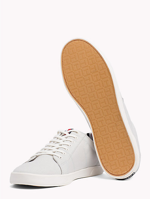 TOMMY HILFIGER Iconic Lace-Up Trainers - BARELY BLUE - TOMMY HILFIGER Summer shoes - detail image 1