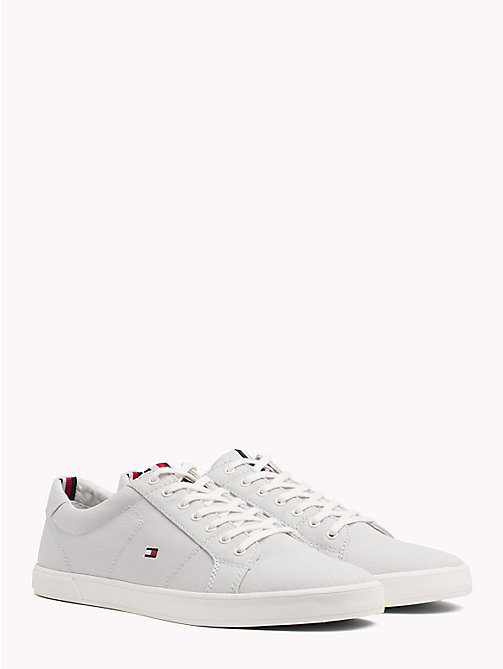 TOMMY HILFIGER Iconic Lace-Up Trainers - BARELY BLUE - TOMMY HILFIGER VACATION FOR HIM - main image