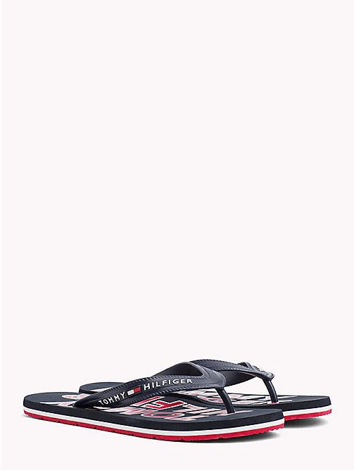 TOMMY HILFIGER Sporty Logo Flip-Flops - MIDNIGHT -  VACATION FOR HIM - main image