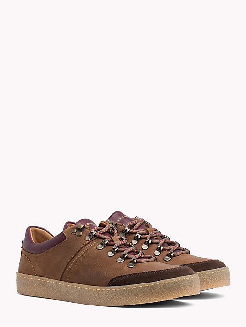TOMMY HILFIGER Hiking-Sneaker mit Farbblockdesign - COFFEE - TOMMY HILFIGER NEW IN - main image
