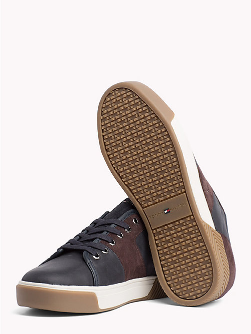 TOMMY HILFIGER Leather Mix Low-Top Trainers - MIDNIGHT - TOMMY HILFIGER Trainers - detail image 1