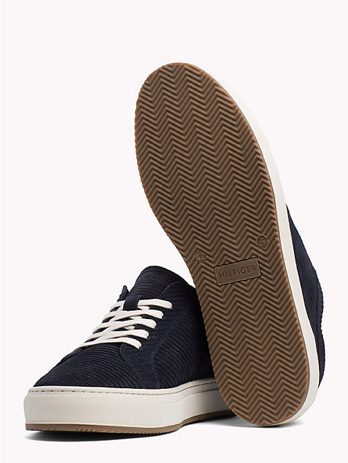 TOMMY HILFIGER Ribbed Texture Suede Trainers - MIDNIGHT - TOMMY HILFIGER NEW IN - detail image 1