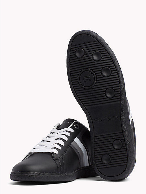 TOMMY HILFIGER Colour-blocked leren sneaker - BLACK - TOMMY HILFIGER Sneakers - detail image 1